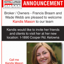 Welcome to the team Kandis