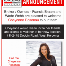 Welcome to the team Cheyenne