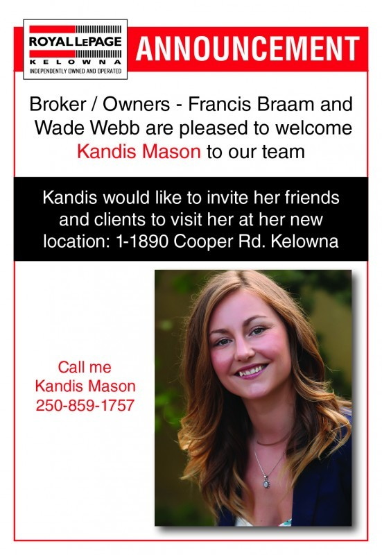 Announcement - Kandis Mason