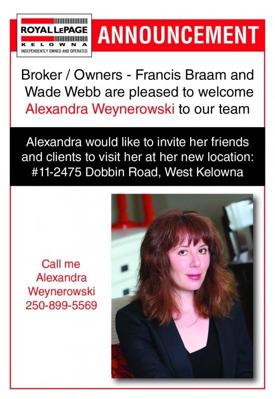 Announcement - Weynerowski, Alexandra