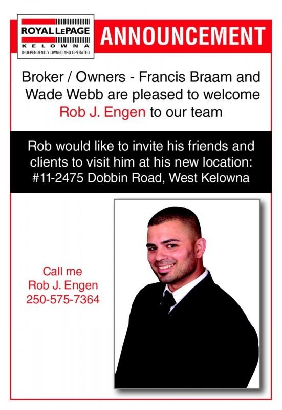 Announcement - Rob Engen