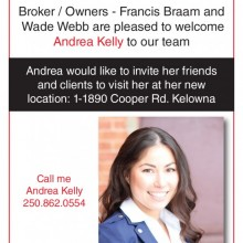 Welcome to the team Andrea