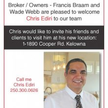 Welcome to the team Chris