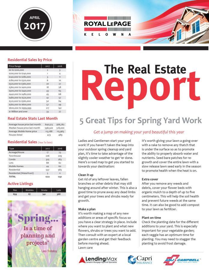 Royal LePage Kelowna Real Estate Report - April 2017