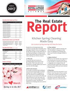 Royal LePage Kelowna Real Estate Report March 2017