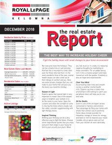 Royal LePage Kelowna Real Estate Report for November 2018